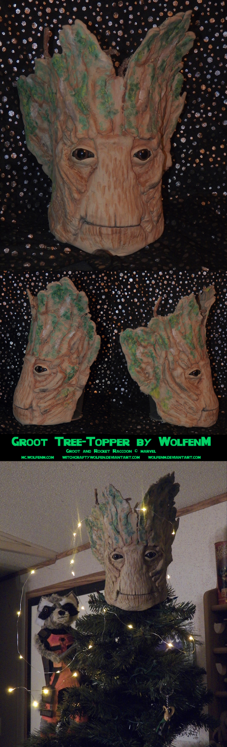 Custom Groot Tree Topper1