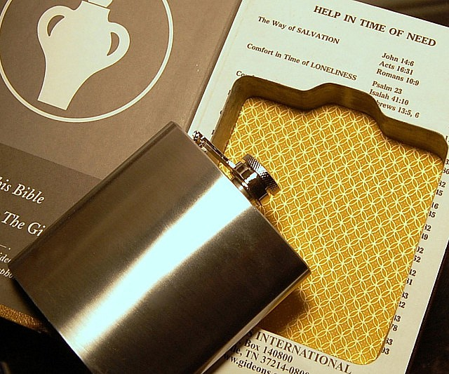 Hollow Bible Flask