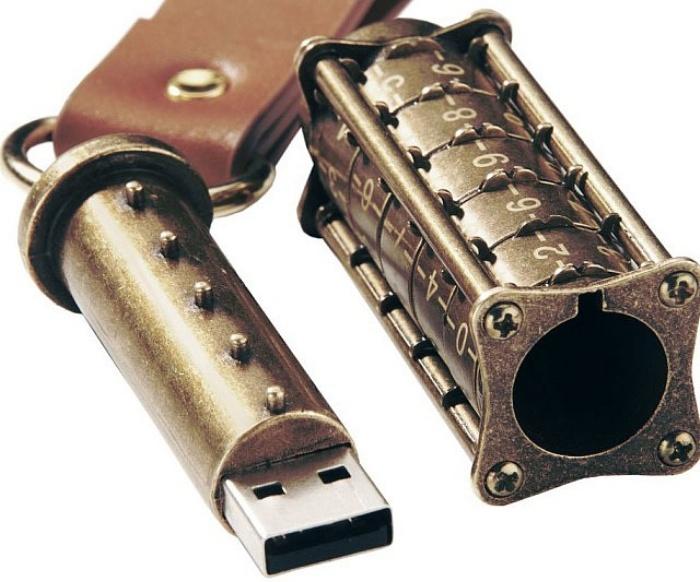 Mechanical Combination Lock USB Drive