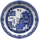 Old School Blue Willow Plates Come Complete With Game Boy Graphics