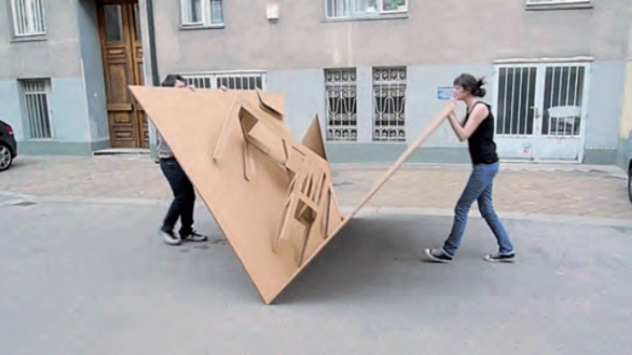 Fold Out Cardboard Furniture