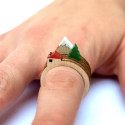 Make Mini-Landscapes On Your Fingers With These Wooden Rings