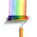DIY Paint Roller That Paints Rainbows