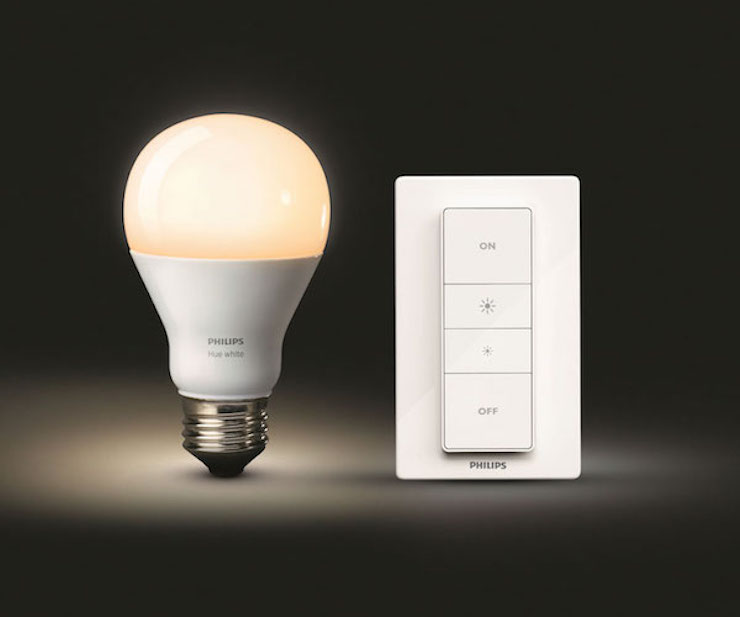 philips hue with wireless dimming ohgizmo. Black Bedroom Furniture Sets. Home Design Ideas