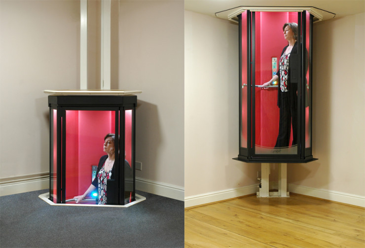 Make a supervillain entrance with the terry lifts the at Elevators for the home