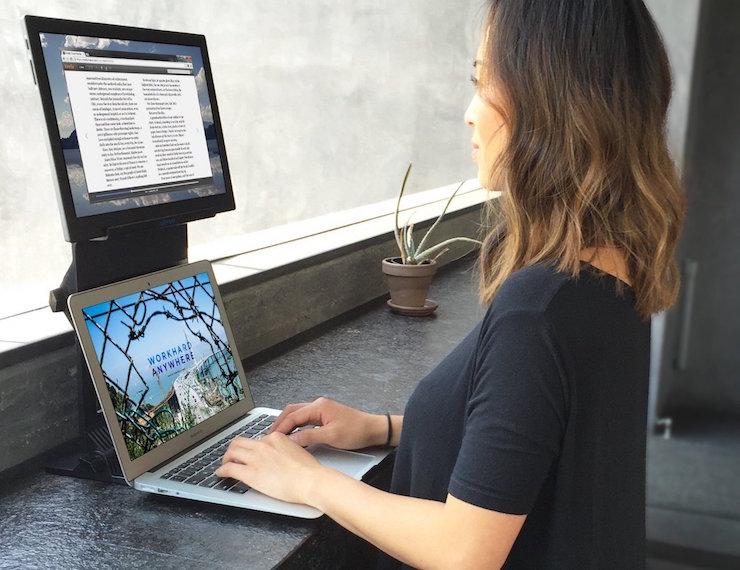 Usb Powered Dual Monitor Laptop Stand By Veyem Ohgizmo