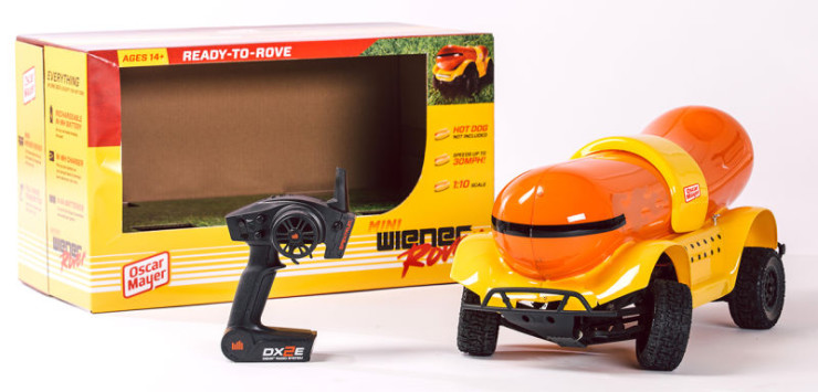 you can buy a remote controlled wienermobile ohgizmo. Black Bedroom Furniture Sets. Home Design Ideas