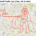 Cyclist Draws Darth Vader With GPS Tracking