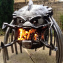 The Alien V. Predator Wood Burning Stove Has Personality