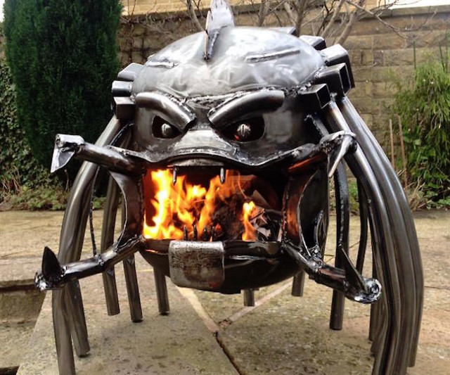 The Alien V Predator Wood Burning Stove Has Personality