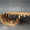 Wave City Coffee Table, Like From Inception