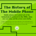 Awesome Infographic On The History Of Mobile Phones