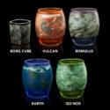 Star Trek Planetary Glassware