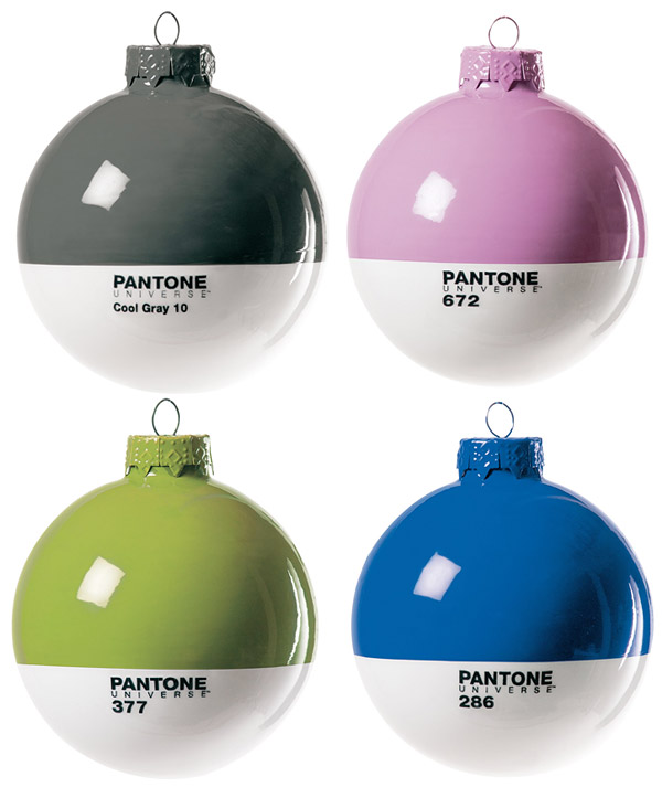 The Designer In Your Life Will Love These Pantone Christmas Ornaments Ohgizmo