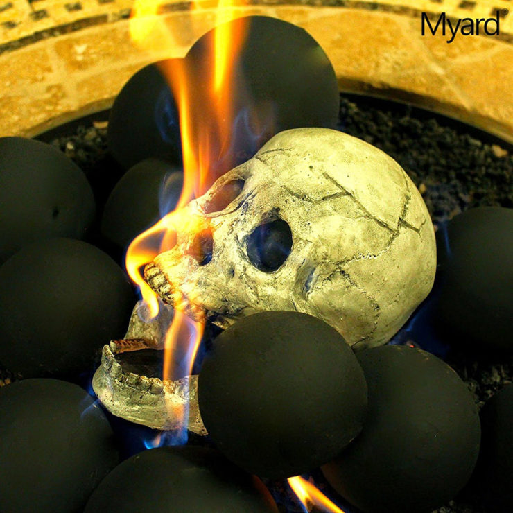 Fireproof Skulls Will Spice Up Your Firepit Ohgizmo