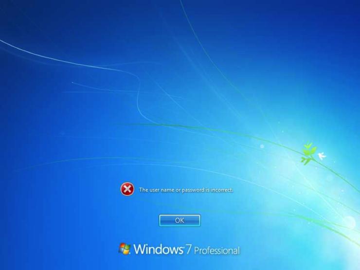 Password recovery windows 7