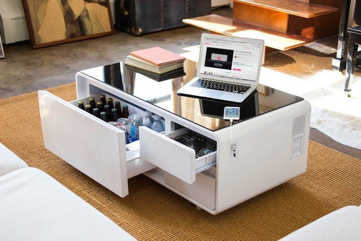 Sobro cooler coffee table ohgizmo for Modern living room gadgets