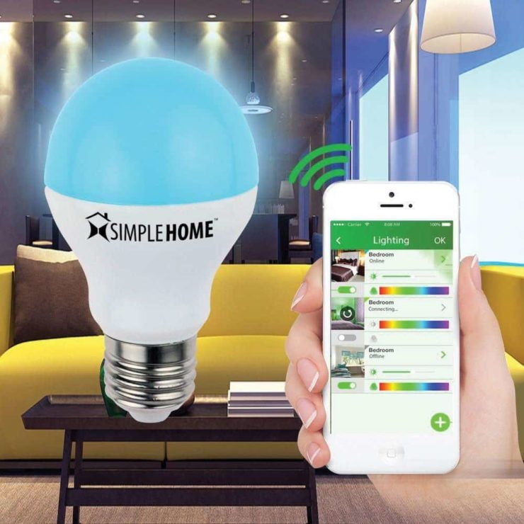 SimpleHome XLB7-1002-WHT Wi-Fi Multicolor Smart LED Bulb