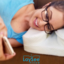 The LaySee Pillow Is Made For People With Glasses