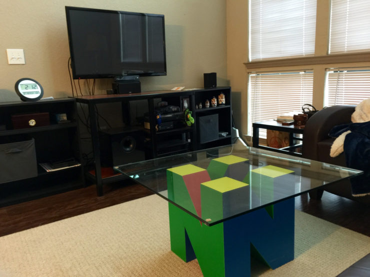 Unique Nintendo Coffee Table is for Serious Mario Fans
