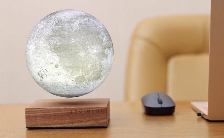 Levitating Moon Symbolizes Earth's Relationship With Large Rocks - Levimoon Levitating Moon Light 01 740x455 - Levitating Moon Symbolizes Earth's Relationship With Large Rocks